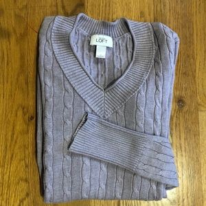 LOFT Cable Knit Sweater (Small)